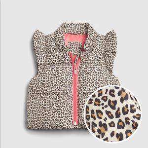 Baby Gap Cold Control Max Flutter Leopard Vest